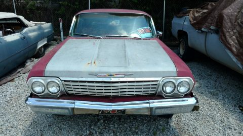 decent body 1962 Chevrolet Impala project for sale