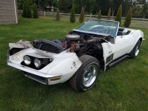 Engine Fire 1970 Chevrolet Corvette Running Project for sale