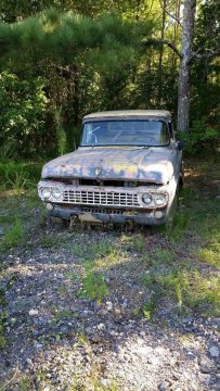 solid 1958 Ford F 100 Stepside pickup project for sale