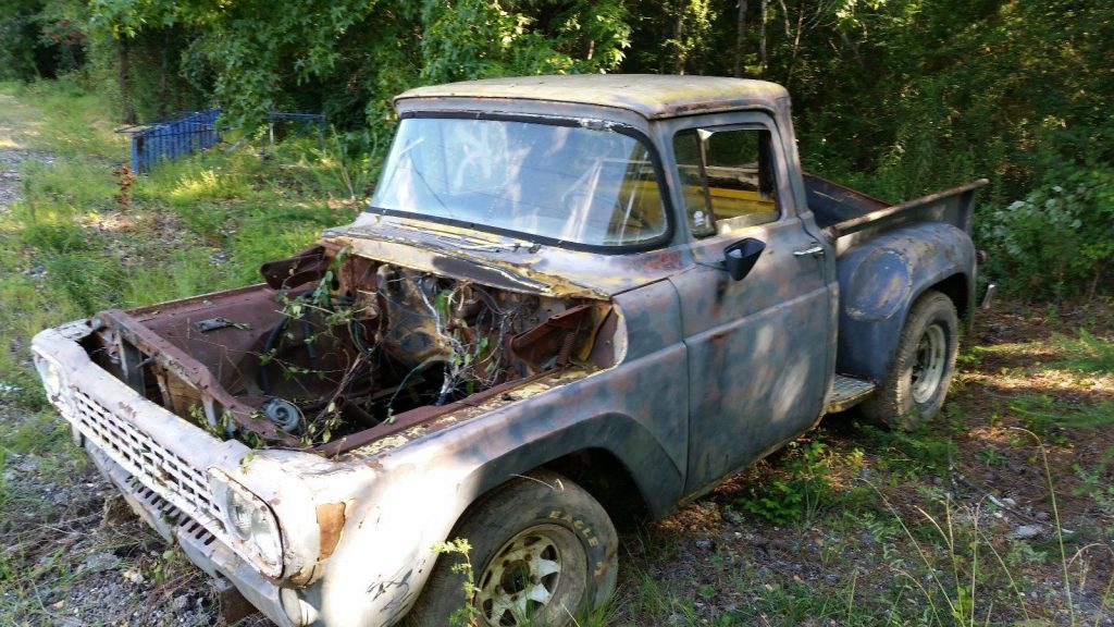 solid 1958 Ford F 100 Stepside pickup project