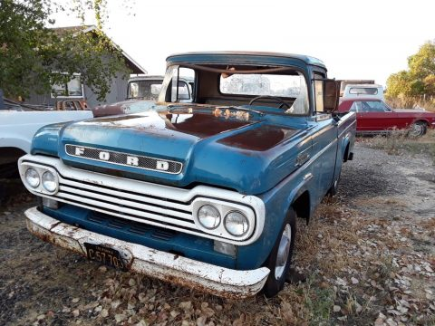 vintage 1959 Ford F 100 shortbed project for sale