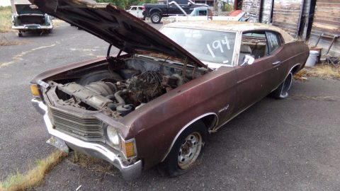 classic muscle 1971 Chevrolet Chevelle Malibu project for sale