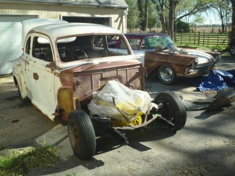 new body mounts 1941 Ford coupe hot rod project for sale