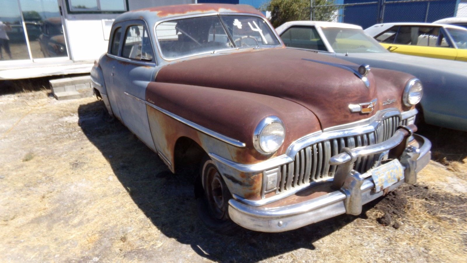 surface rust 1949 Desoto Custom CLUB Coupe project for sale