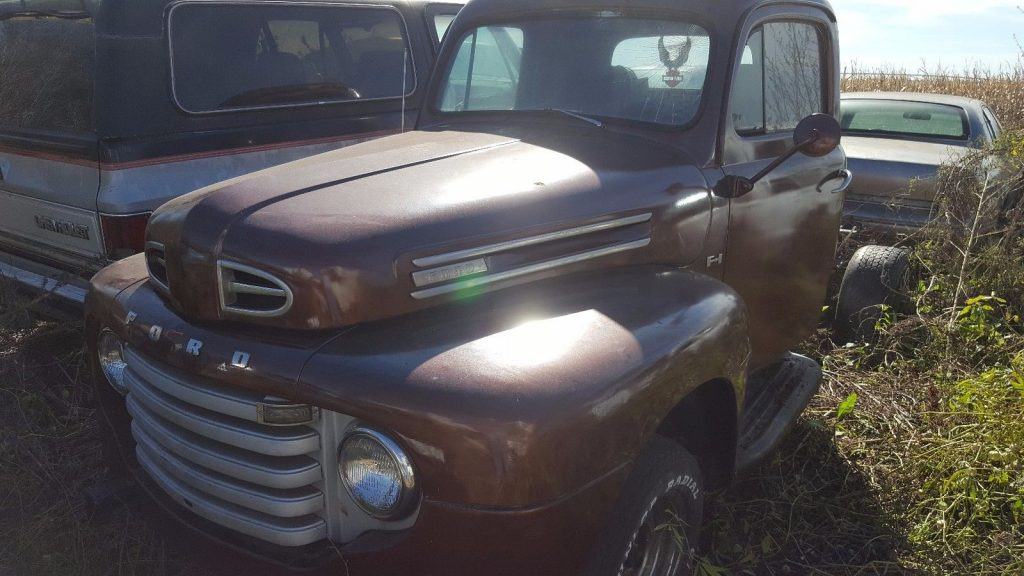 extra parts truck 1949 Ford F 100 project