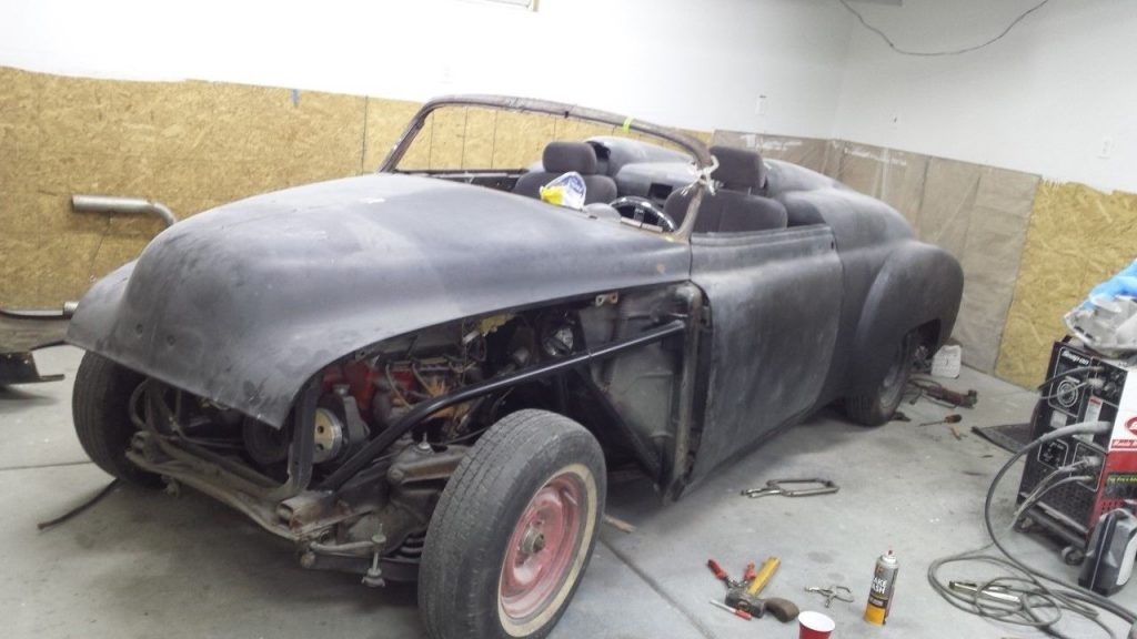 modified 1950 Chevrolet rat rod project