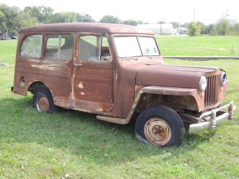 no engine 1946 Willys 439 Jeep Station wagon project for sale
