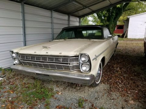 running engine 1966 Ford Galaxie convertible project for sale