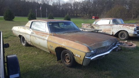 small block 1968 Chevrolet Impala project for sale