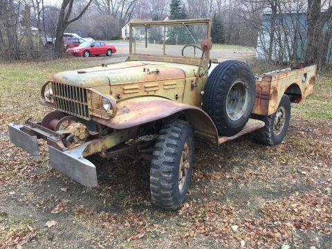 almost no rust 1945 Dodge WC 52 Weapons Carrier project for sale