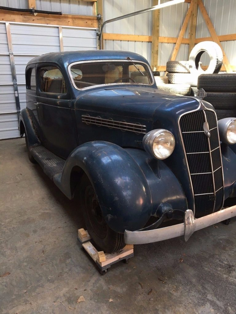 barn find 1935 Plymouth project with working engine