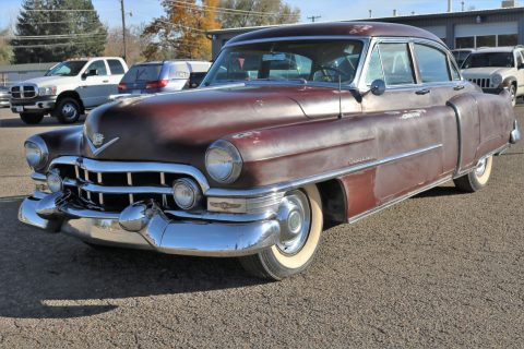 barn find after 20 yrs 1952 Cadillac Series 62 sedan rust free project for sale