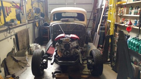 Corvette engine 1937 Pontiac hot rod project for sale