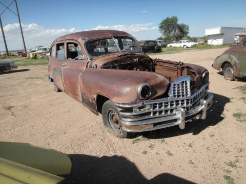 cracked engine block 1948 Packard 200 Henney hearse project for sale