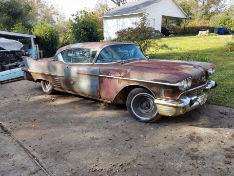 good base 1958 Cadillac Coupe DeVille project for sale