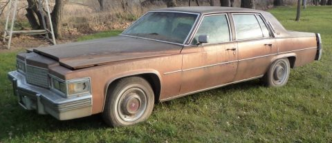 minimal rust 1979 Cadillac Sedan DeVille project for sale