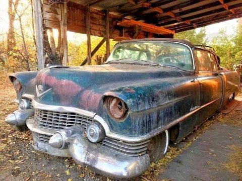 parked 52 yrs ago 1954 Cadillac Eldorado Convertible project for sale