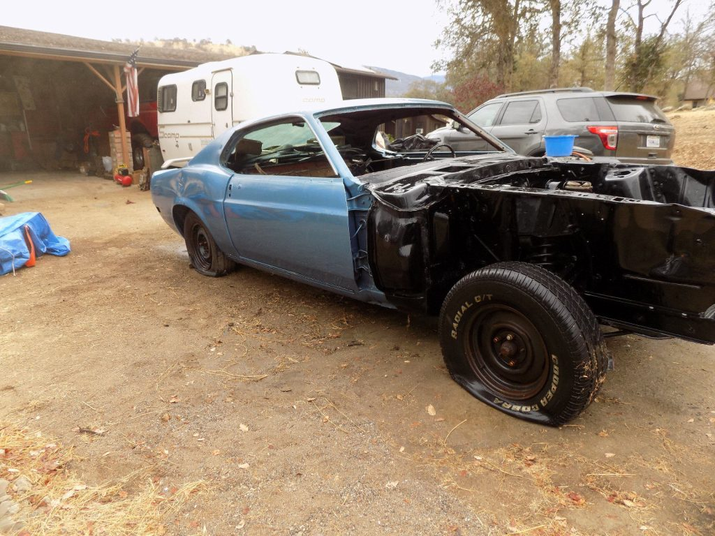 rust free 1970 Ford Mustang project