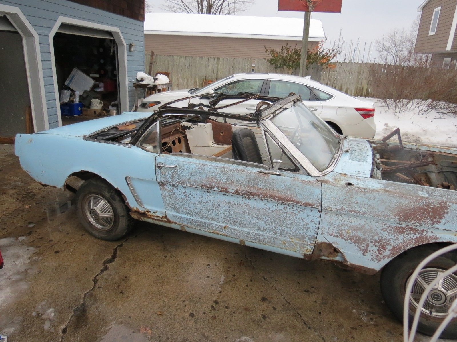 Missing Parts 1965 Ford Mustang Convertible Project For Sale