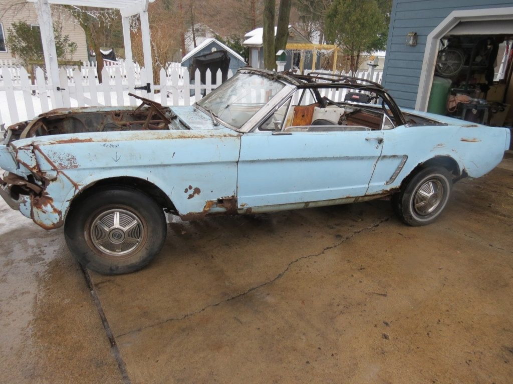 missing parts 1965 ford mustang convertible project for sale. Black Bedroom Furniture Sets. Home Design Ideas