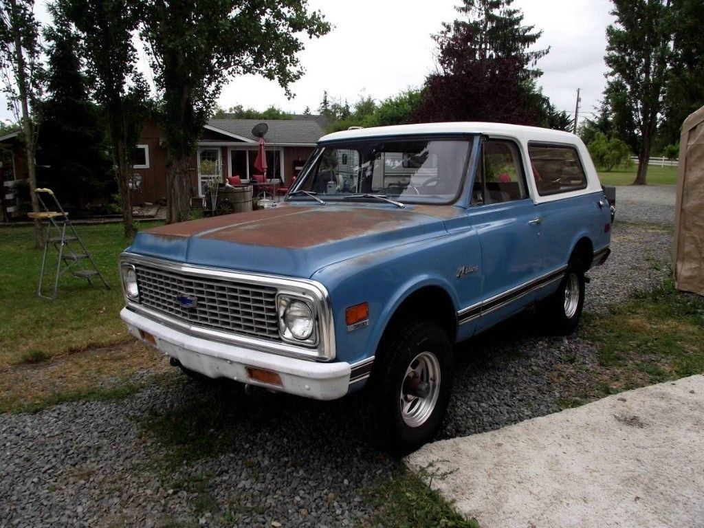 needs new carb 1971 Chevrolet Blazer orignal condition project