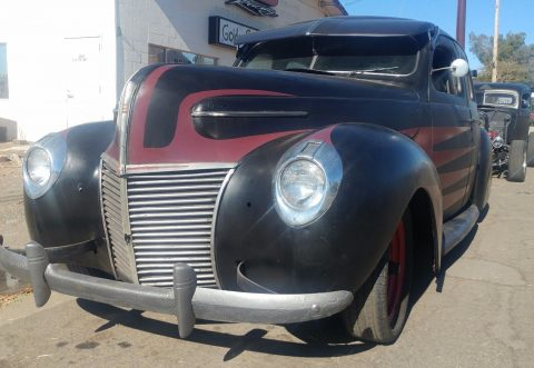rusty 1939 Mercury Eight hot rod project for sale