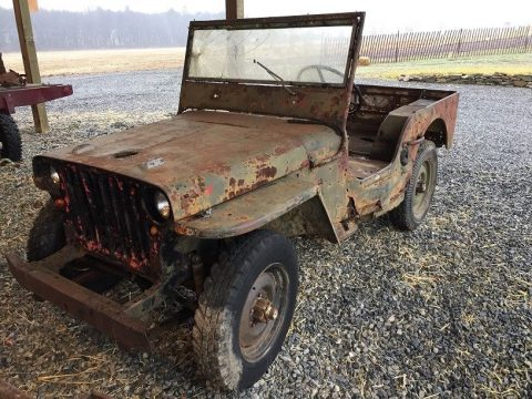 rusty 1942 Ford GPW project for sale