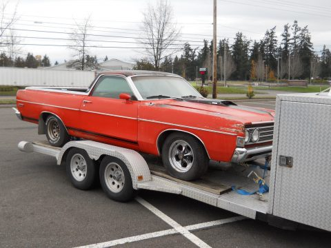 solid 1969 Ford Ranchero GT 500 Rio Grande project for sale