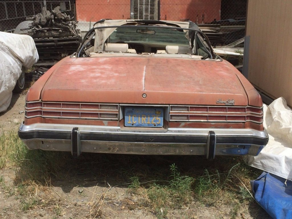 solid 1975 Pontiac Grandville Convertible project