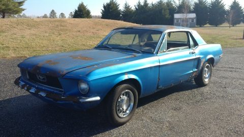 extra parts 1968 Ford Mustang Coupe project for sale
