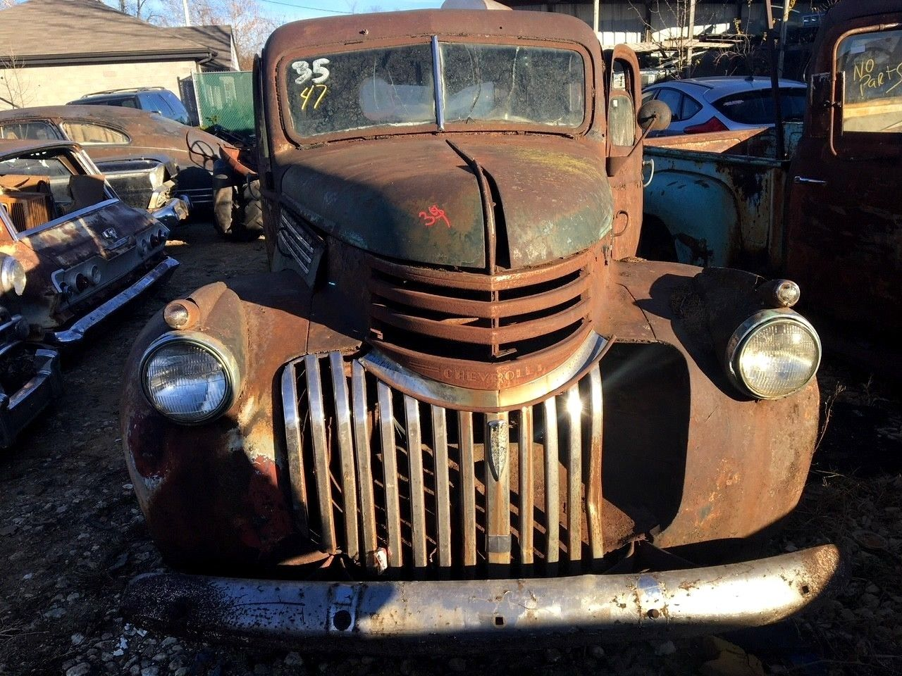 needs restoration 1941 chevrolet pickups split front windshield project for sale. Black Bedroom Furniture Sets. Home Design Ideas