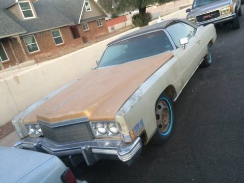 needs some work 1974 Cadillac Eldorado convertible project for sale