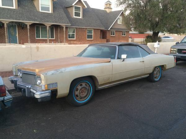 needs some work 1974 Cadillac Eldorado convertible project