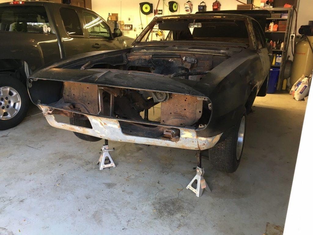 needs total resto 1967 Chevrolet Camaro base project