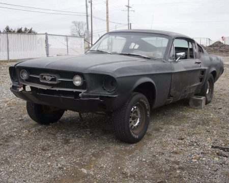 needs total resto 1967 Ford Mustang Fastback project for sale