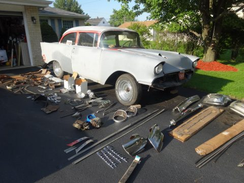 new parts 1957 Chevrolet Bel Air/150/210 project for sale