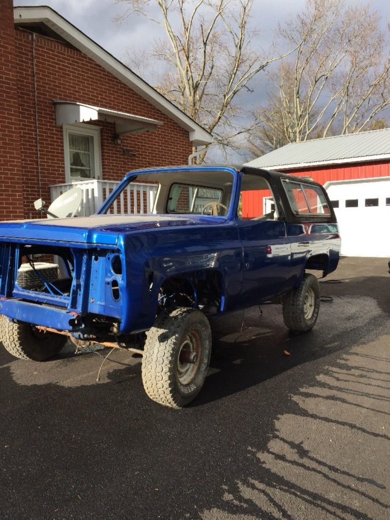 ready to be completed 1973 Chevrolet Blazer offroad project