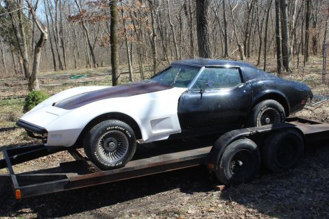 low miles 1974 Chevrolet Corvette LS4 Project for sale