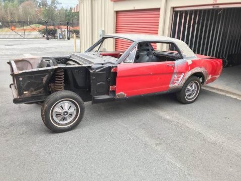 unfinished restoration 1966 Ford Mustang Standard project for sale