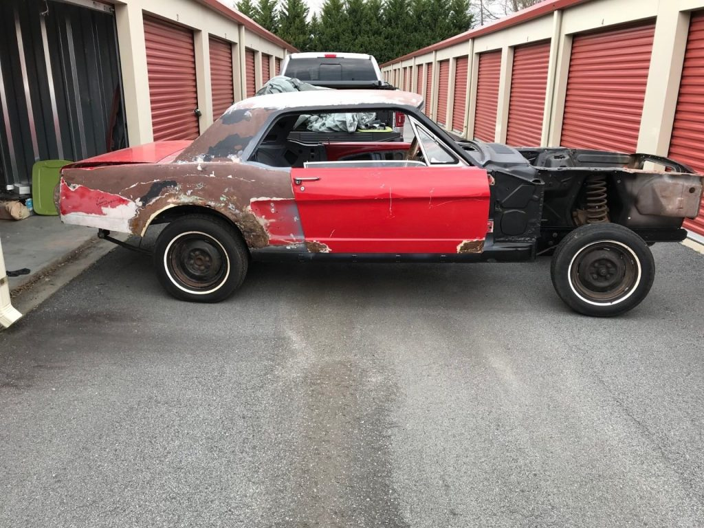 unfinished restoration 1966 Ford Mustang Standard project