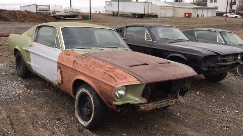 complete 1968 Ford Mustang Fastback project for sale