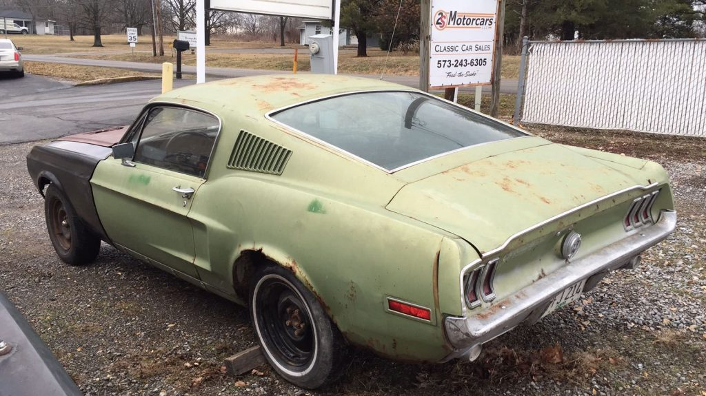 complete 1968 Ford Mustang Fastback project