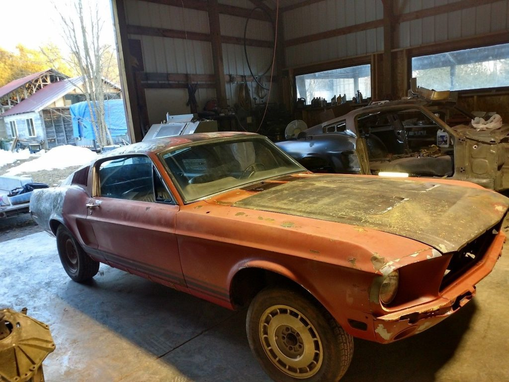 solid 1968 Ford Mustang GT project
