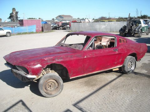solid 1968 Ford Mustang project for sale
