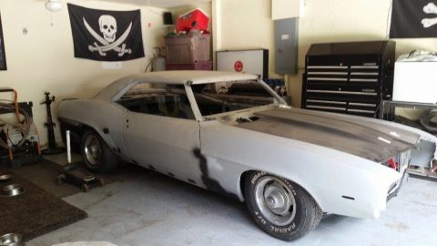 solid 1969 Chevrolet Camaro project for sale