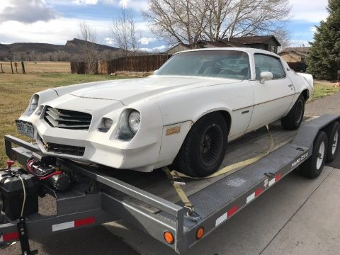 solid 1979 Chevrolet Camaro Berlinetta project for sale