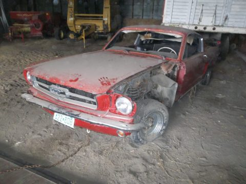 barn find 1965 Ford Mustang fastback for sale