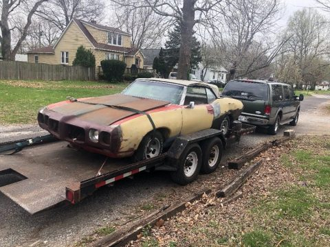 complete 1969 Pontiac Le Mans convertible project for sale