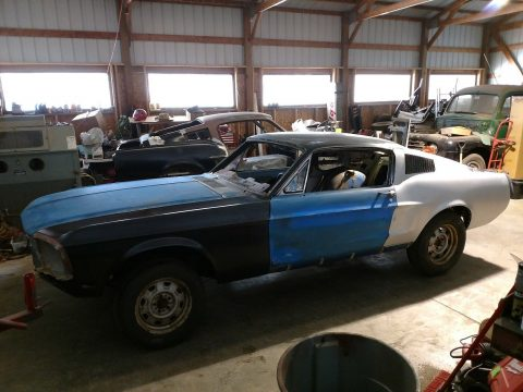 complete welding 1968 Ford Mustang Fastback project for sale
