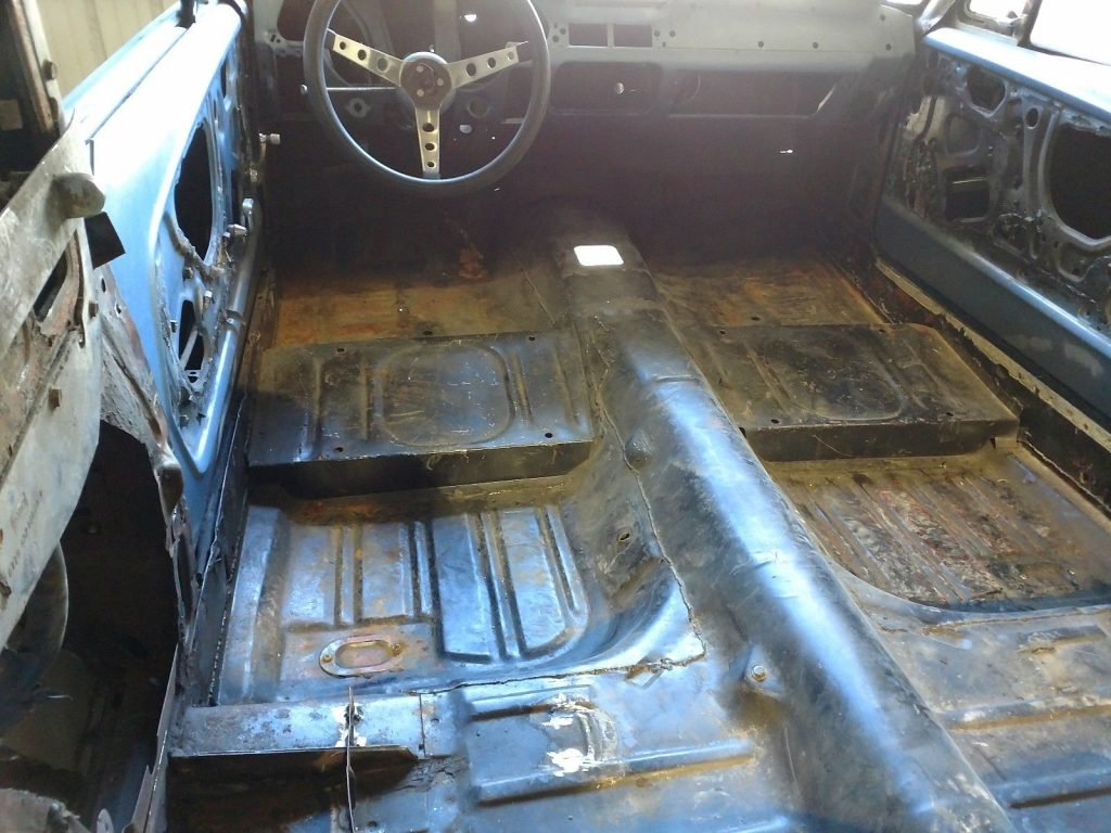 complete welding 1968 Ford Mustang Fastback project